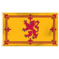 Online Stores Scotland Rampart Lion Printed Polyester Flag, 3 by 5-Feet