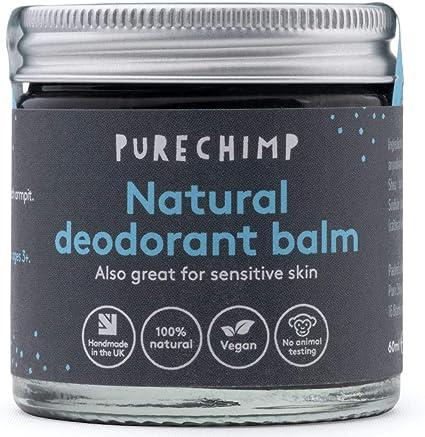Bálsamo Desodorante Natural 60 ml de PureChimp - Cristal Reciclable – Carbón Activado - Vegano – Libre de Alcohol y Aceite de Palma Para Piel Sensible (60ml): Amazon.es: Belleza
