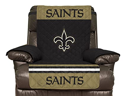 Pegasus Sports NFL New Orleans Saints Recliner Reversible Furniture  Protector With Elastic Straps, 80