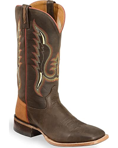 eeb23f962a7 Amazon.com | Old West Men's Light and Cowboy Boot Square Toe ...