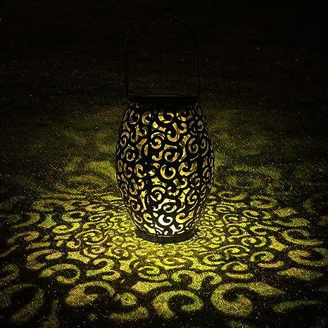 Linterna Solar para Exteriores, Tomshine Lámpara Solar Decorativa Linterna para Jardín, IP44 Lámpara LED a Prueba de Agua con Linterna Solar para Exteriores: Amazon.es: Iluminación
