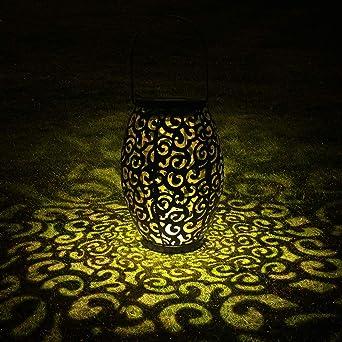 Solarlaterne Fur Aussen Tomshine Dekorative Solarlampe Garten Laterne Ip44 Wasserdicht Led Solar Laterne Dekolampe Fur Draussen