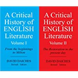 A Critical History Of English Literature - Volume I & Ii (combo Pack)