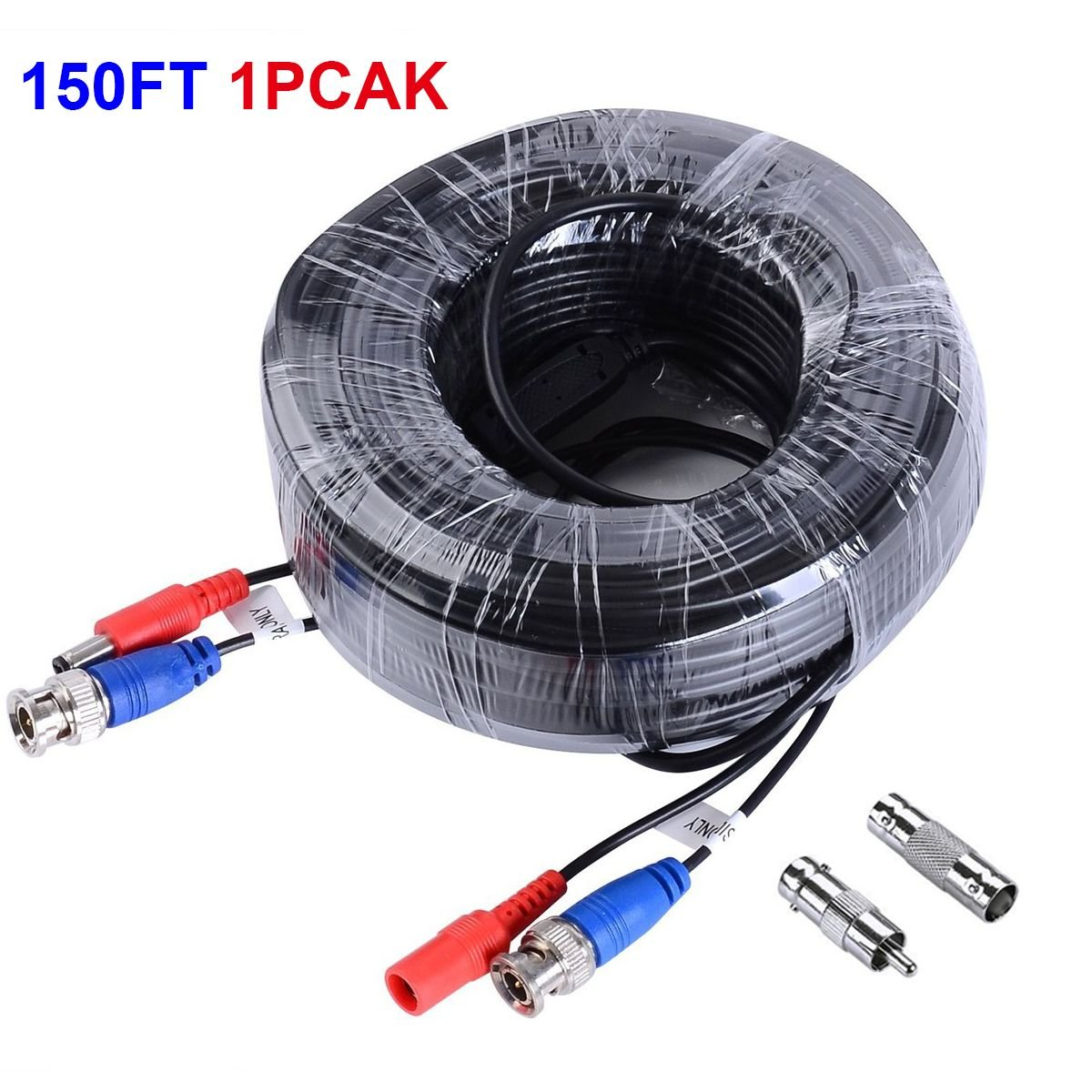 Well Wreapped Jztek 150ft Video Power Security Camera Extension Wiring Surveillance Cameras Cable Wire For Cctv Dvr Ccd