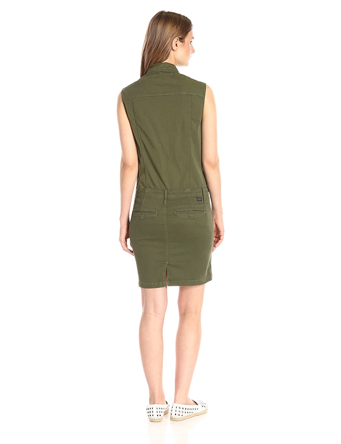 Amazon.com: G-Star Raw Womens Rovic Slim Dress Short Sleeve trone Super Stretch Twill, Bright Rovic Green, Large: Clothing