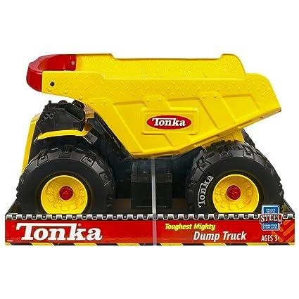 Tonka Toy Trucks >> Amazon Com Tonka Toughest Mighty Truck Handle Color May Vary