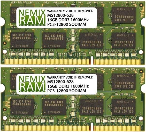 32GB (2x16GB) DDR3-1600MHz PC3-12800 2Rx8 SODIMM Laptop Memory