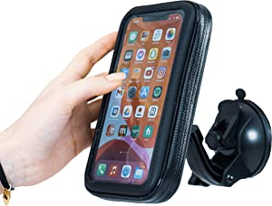 ShowerPhone by Wumas - Waterproof Shower Phone Holder Case for Shower/Bath | Rotatable & Height Adjustable with Suction Cup Mount for iPhone & Android