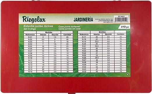 Riegolux 890074 Juntas Toricas Surtidas, Estuche 419 piezas: Amazon.es: Jardín