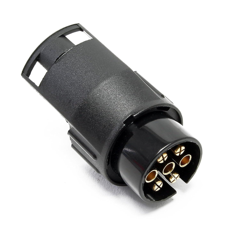 Wiltec Adattatore elettrico per rimorchi 7 poli maschio 13 poli femmina 12V 50A per auto
