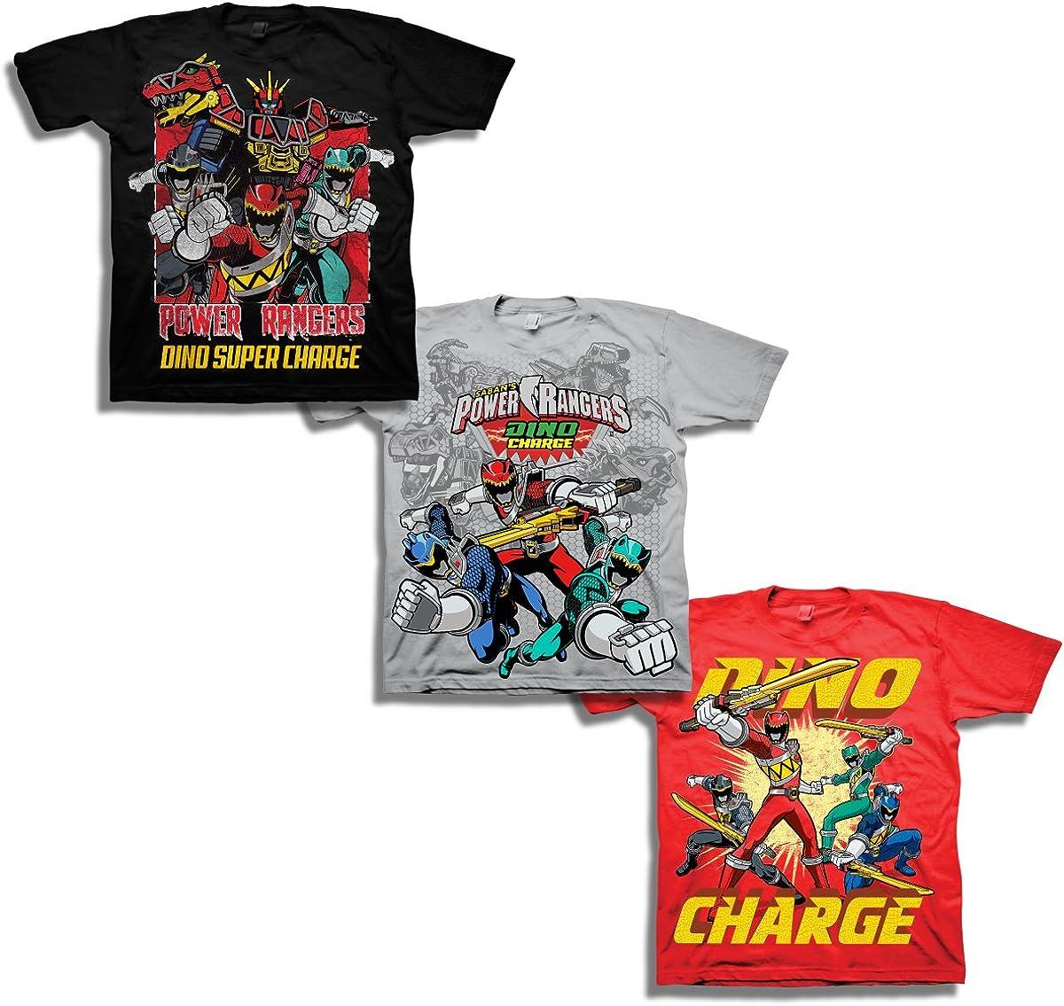 Power Rangers Boys' Little Boys' Super Dino Charge 3 Pack T-Shirt Bundle