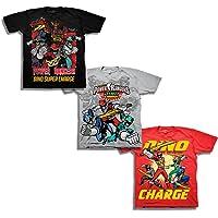 Freeze Power Rangers Boys' Little Boys' Super Dino Charge 3 Pack T-Shirt Bundle