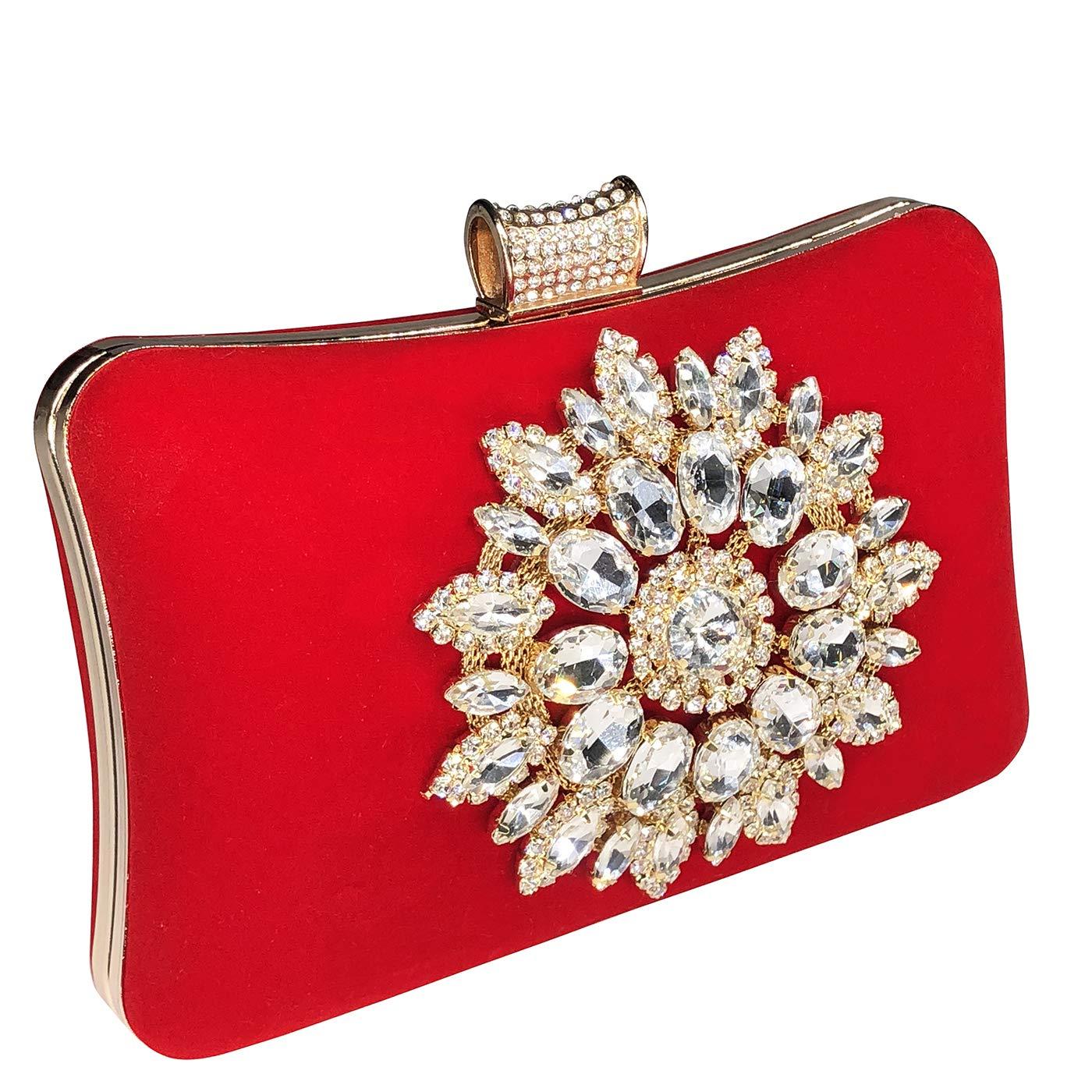Bolso De Las Mujeres Diamante Bolso De Noche Clutch Bag Billetera Embrague Bolsos De Mano: Amazon.es: Equipaje