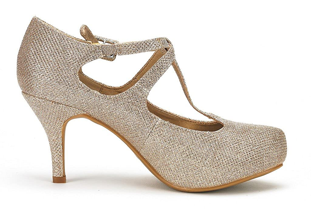 DREAM PAIRS Office-02 Womens Classy Mary Jane Double Ankle Strap Almond Toe High Heel Pumps New