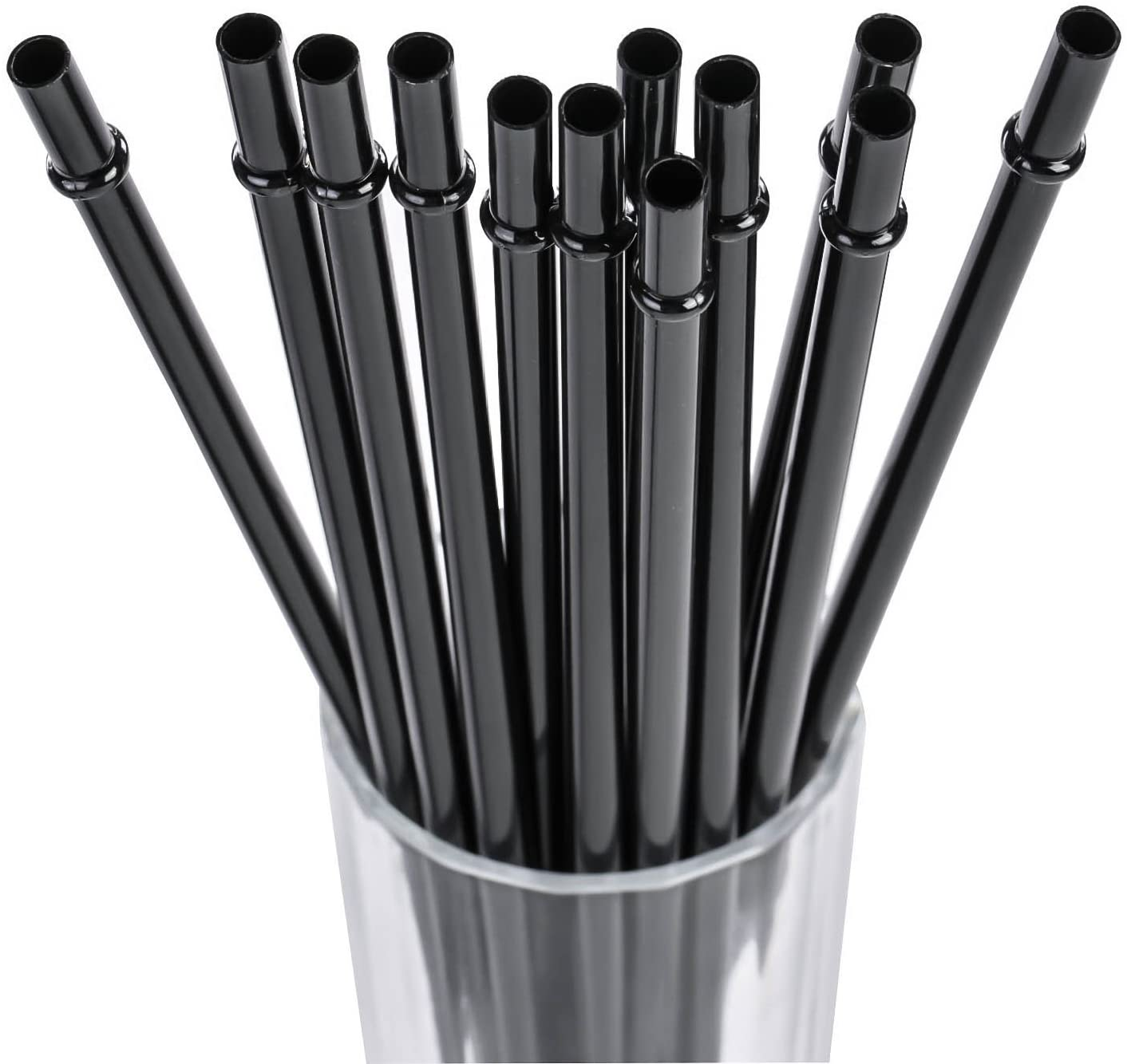 Dakoufish 6 Inch Reusable Plastic Drinking Straws BPA Free 12 Colors-12 Pack Plus Free Cleaning Brush 6inch,12color