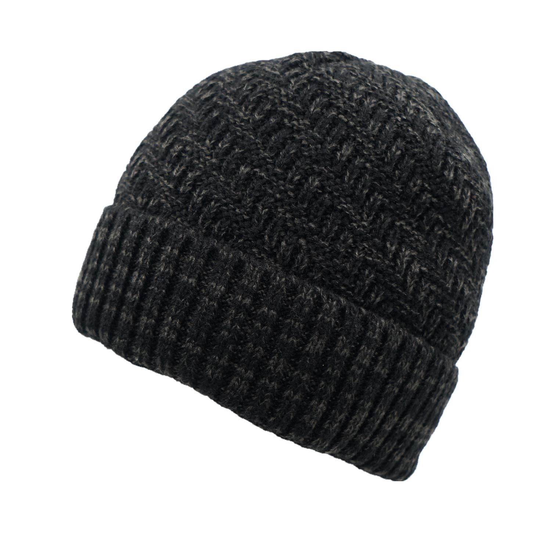 becbdf81d Home Prefer Daily Beanie Hat for Men Warm Winter Hats Thick Knit Cuff  Beanie Cap