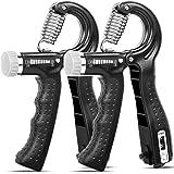 KDG Hand Grip Strengthener 2 Pack Adjustable Resistance 10-130 lbs Forearm Exerciser,Grip Strength Trainer for Muscle…