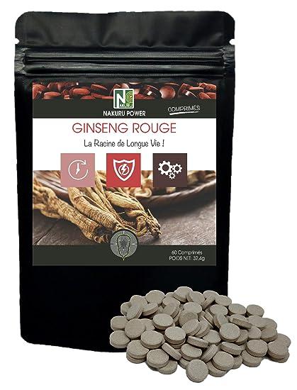 Ginseng Rojo | 60 comprimidos de 540mg | NAKURU Power ...