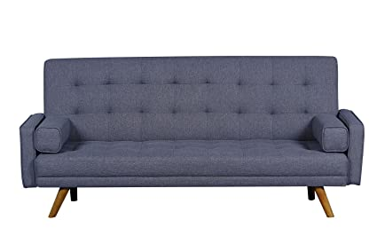 Superior Pulaski DS D052 680 288 Mid Century Biscuit Tufted Click Sleeper Sofa