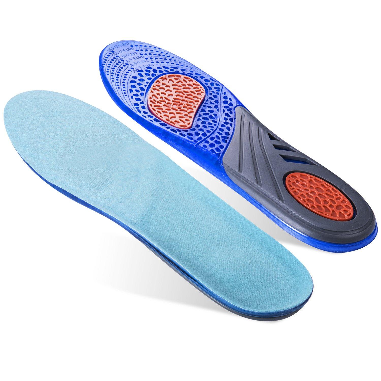 isermeo Semelles Gel - Semelles Orthopédique Sport Silicone Ultra Confort, Basket Avec...