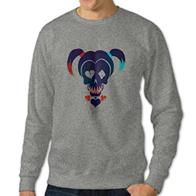 101Dog Suicide Squad Harley Quinn Mens Pullover Sweatshirt Ash