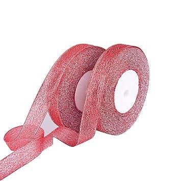50 m Satinband 20mm rot Schleifenband Deko Band Hochzeit Geschenkband