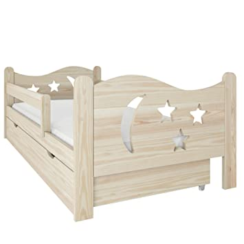 Needsleep Rausfallschutz Kinderbett Komplett Bett Mit Matratze 70x140 80x160 Lattenrost Und Schublade Fur Kinder Ab 2 Jahren Madchen Junge