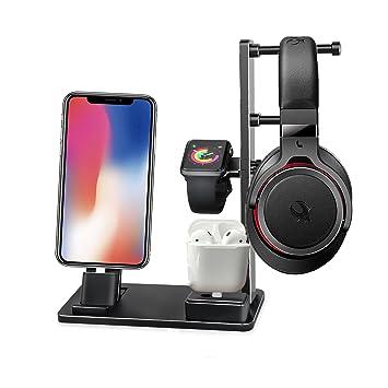 BECEMURU 6 en 1 Apple Watch Stand aleación de aluminio iWatch Soporte de carga iPhone iPad
