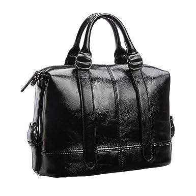 Weiche Tücher Leder Taschen Umhängetasche Leder Messenger Bag Damen Handtasche,Brown-OneSize GKKXUE