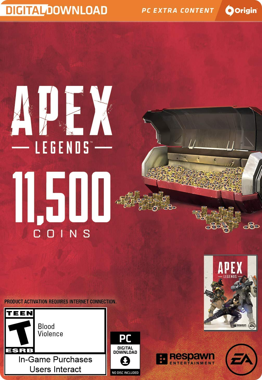 Apex Legends - 11,500 Apex Coins [Online Game Code] by Electronic Arts