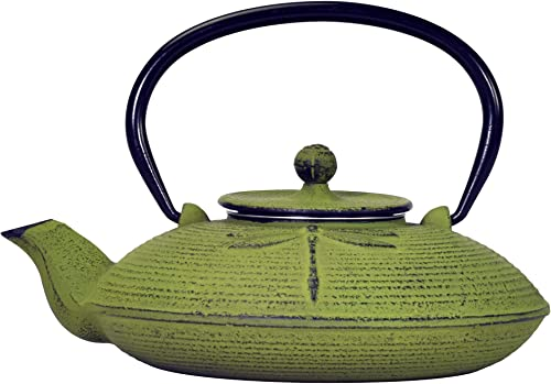 Primula Pci-5228 Green Dragonfly Japanese Tetsubin Cast Iron Teapot