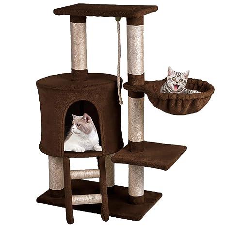 MC Star Árbol para Gato con Rascador de 96cm, Arañazo Juguete de Gatos de Sisal