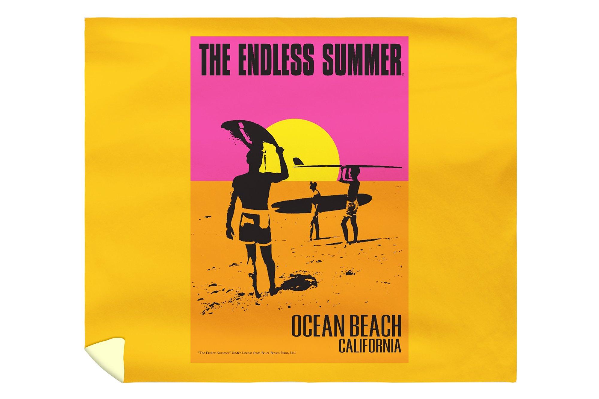 Ocean Beach, California - The Endless Summer - Original Movie Poster (88x104 King Microfiber Duvet Cover)