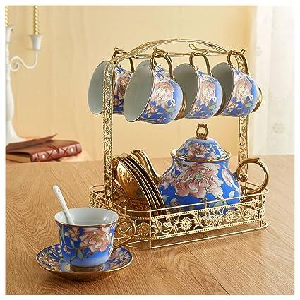 ZHAOJING Conjunto de Tazas de café Conjunto de Taza de Cerámica y Taza de Té de