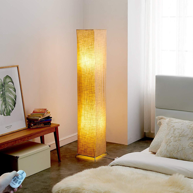 Yinleader Lampada da Terra Moderno LED Lampadina Inclusa per la Decorazione Soggiorno 20x20x132cm Lampadine LED RGBW + spina UK