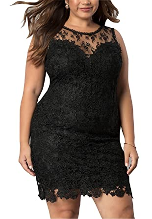 1572a7f7681 Plus Size Prom Dresses Short 2019 Lace Sheer Neckline See Though Back Party  Dress Evening Gowns at Amazon Women s Clothing store