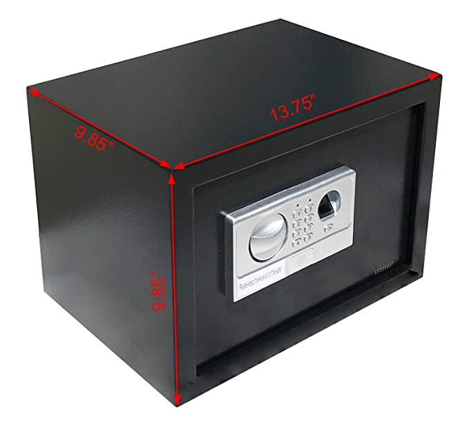 AbleHome Fingerprint Biometric Electronic Safe Security Box Gun Cash Jewelry