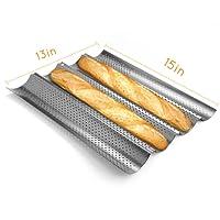 Asien Molde Molde de horno de pan francés baguettes, Metal, Plata