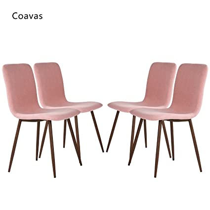 Amazon.com: Coavas Set of 4 Dining Side Chairs Fabric Cushion ...