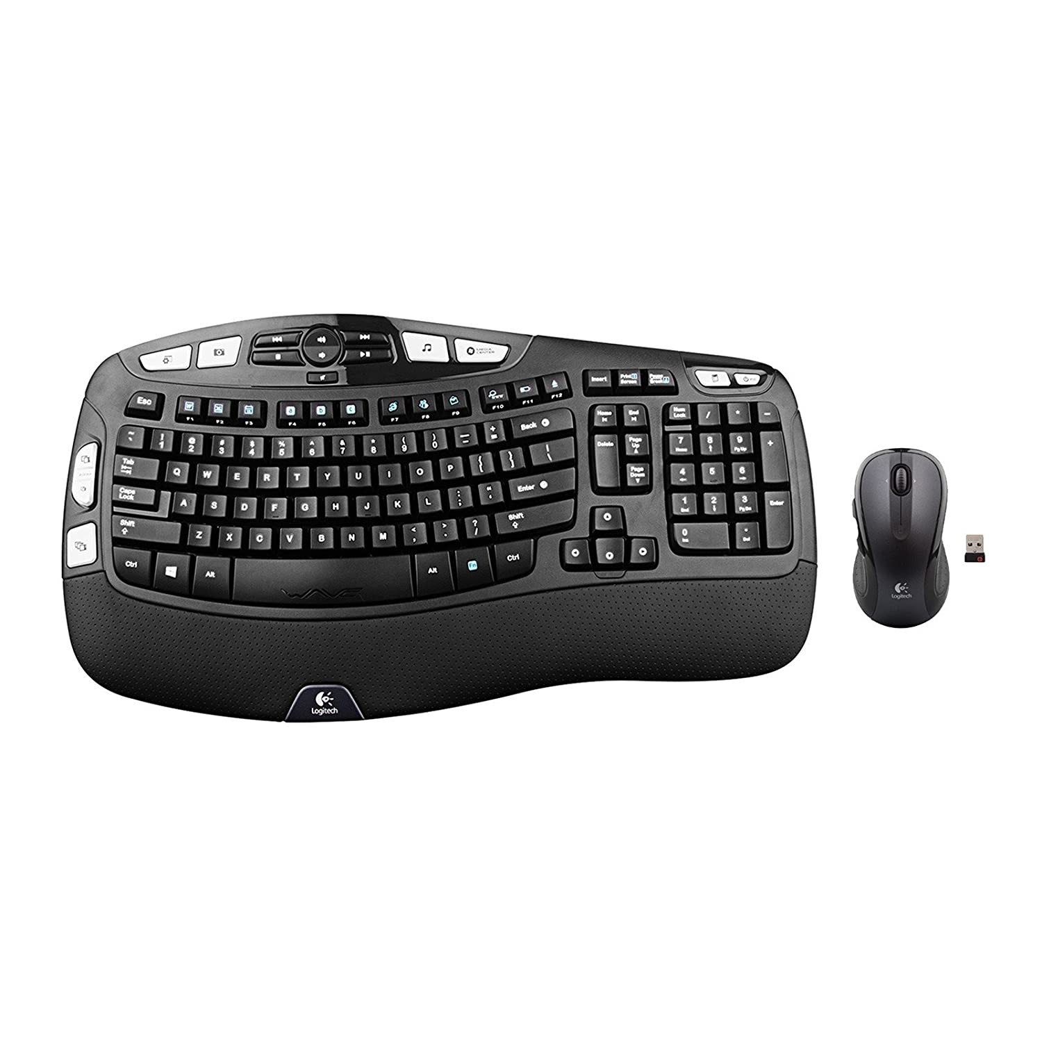 1886736f42c Amazon.com: Logitech Wireless Wave Combo Mk550 With Keyboard and Laser Mouse  (Renewed): Computers & Accessories