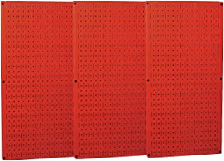 product image for Wall Control Industrial Metal Pegboard - Red, Three 16in. x 32in. Panels, Model Number 35-P-3248RD