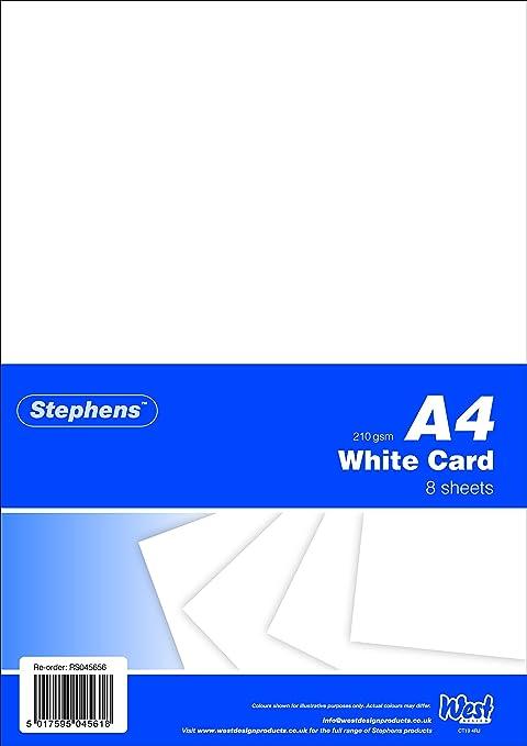 Amazon.com: Stephens – Cartulinas tamaño A4 (, 210 g/m2 ...