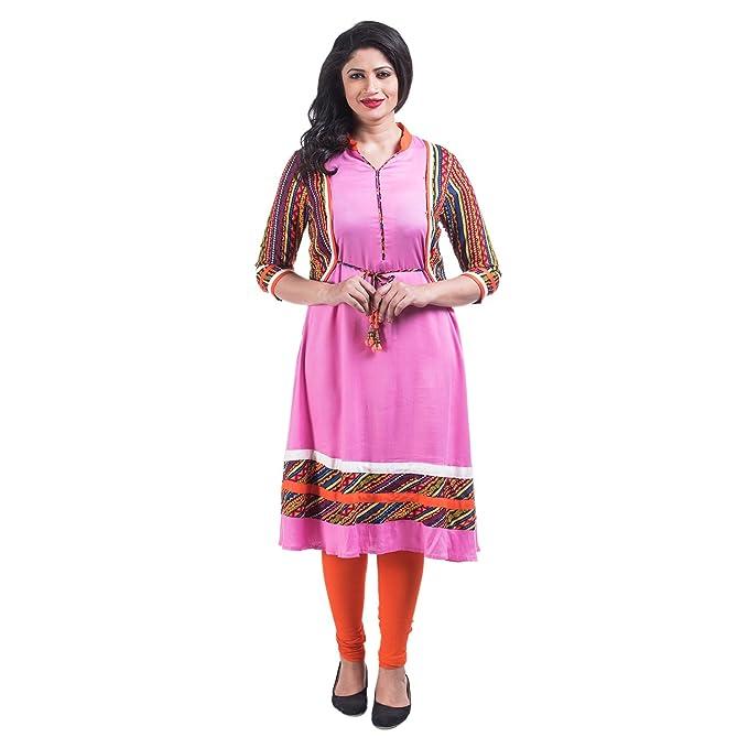 93a6021d465b5 Mamosa Rayon long kurtis for stylish Designer stitched Long Anarkali Kurti  forMulti-Colour Kurti