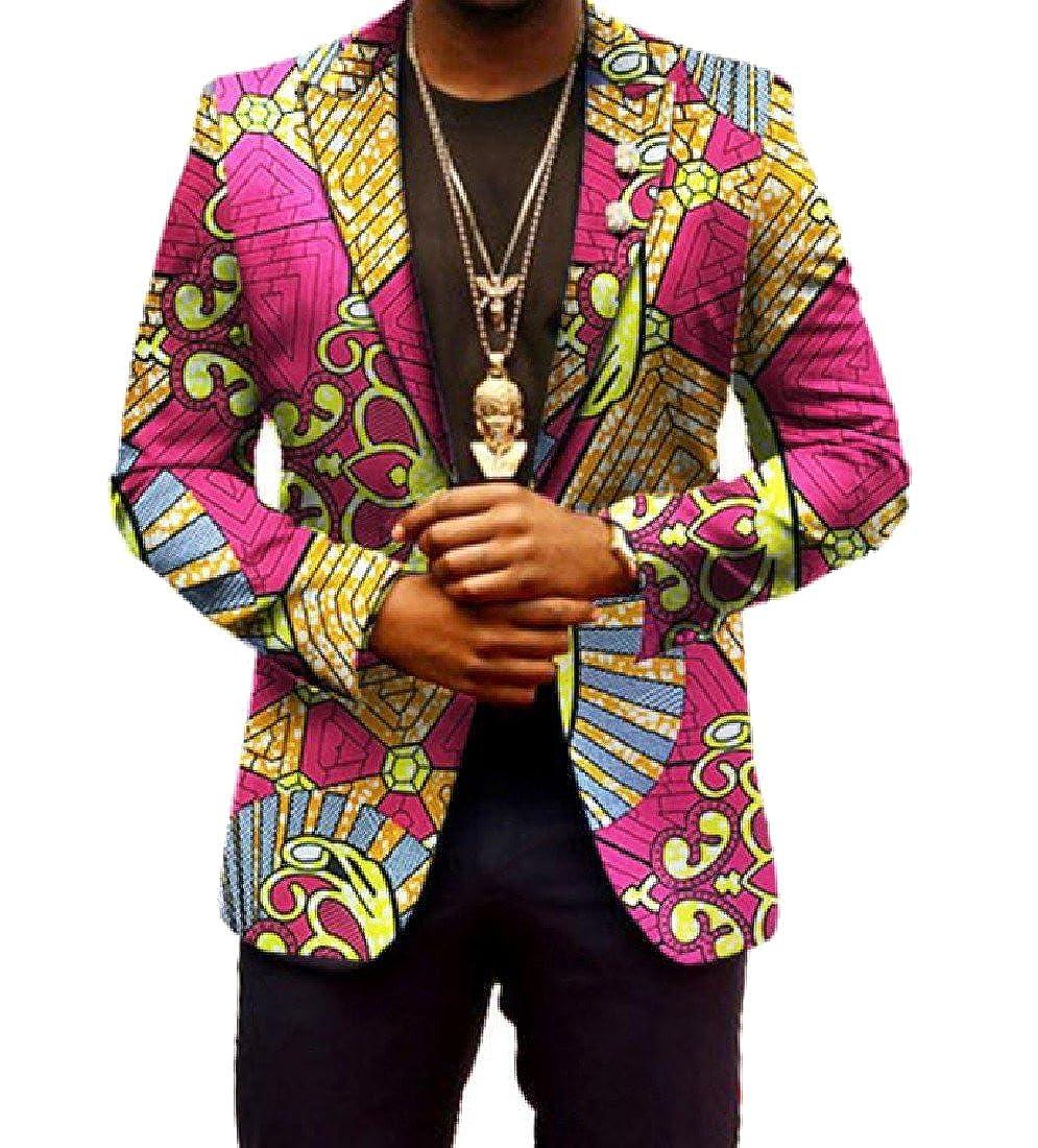 CrazyDayMen CrazyDay Men Vintage African Dashiki Printed Lapel Suit Jackets Blazer 16 5XL