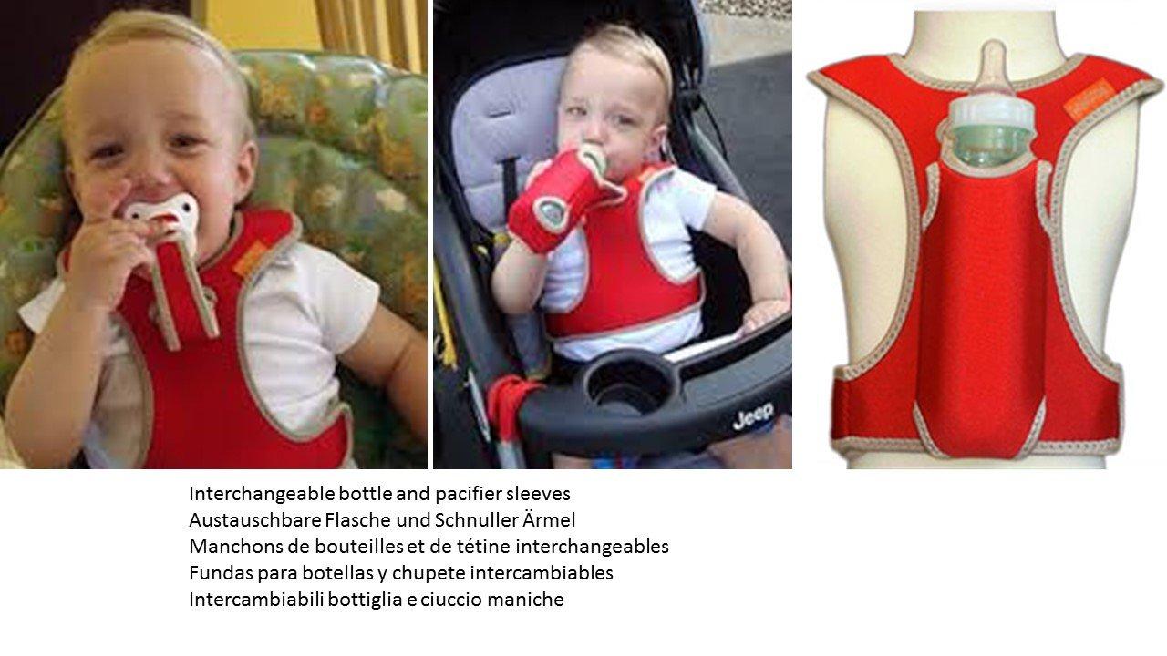Bobalong chaleco del bebé - soporte para botellas / chupón ...