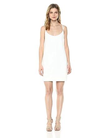 e1bbf12aa7de French Connection Women's Whisper Light Sleeveless Strappy Stretch Mini  Dress Summer/Spring White 2