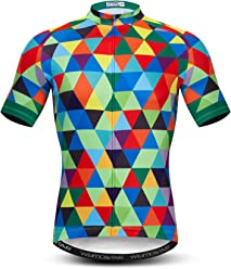 Weimostar Men s Cycling Jersey Short Sleeve Bike Clothing Multicolored  Diamond f6b99d663