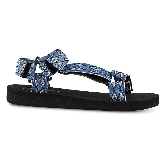 BITTER & SWEET Women's Comfort Sandals Blue in Size 39 ilqvkZ8Ffl