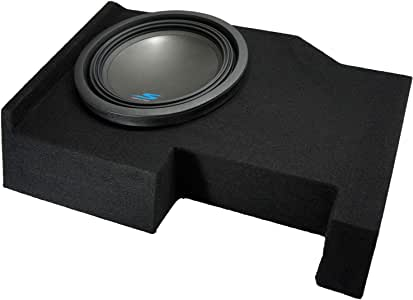 "Compatible with 2014 2015 2016 2017 2018 2019 Chevy Silverado Crew Cab Alpine S-W12D4 Type S Car Audio Subwoofer Custom Single 12"" Sub Box Enclosure Package"