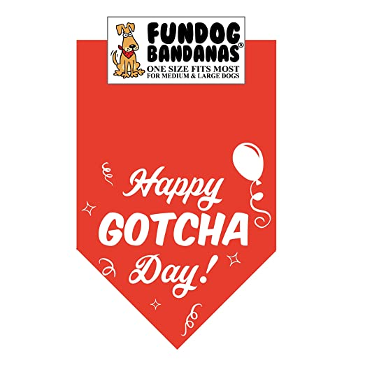Happy Gotcha Day! Dog Bandana